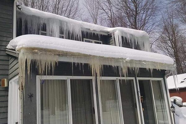Home with Ice Dam
